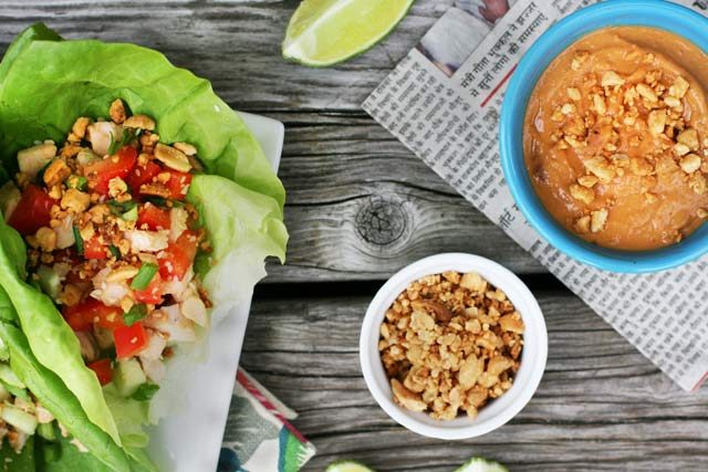 Turkey lettuce wraps: Get more mileage out of your leftover turkey. These are SUPER easy to make!