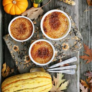 Sesame squash brulee: A totally different squash recipe, with a sweet, crunchy topping which can be made using a broiler.