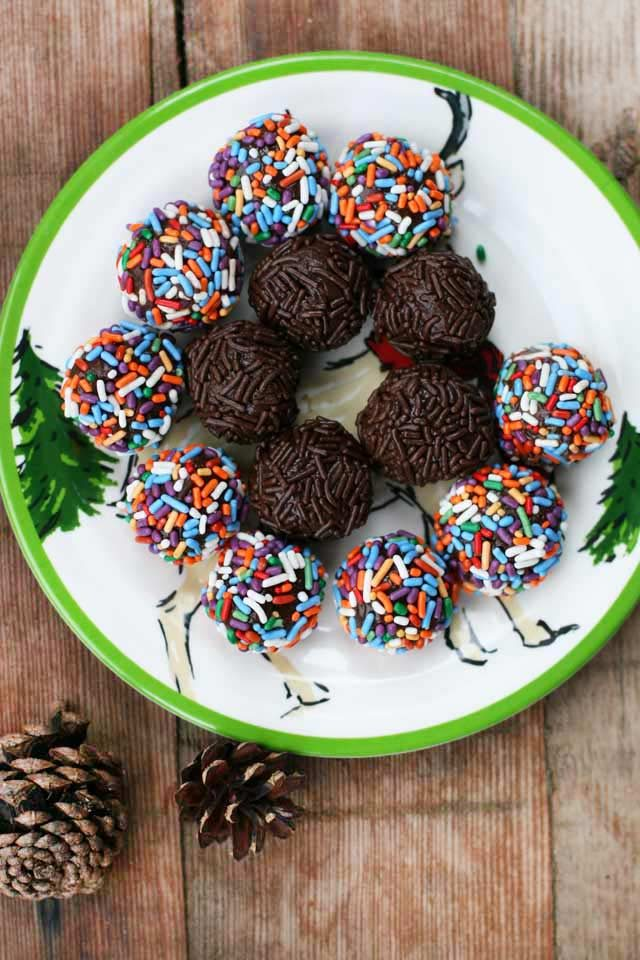 4-ingredient chocolate truffles: Brazilian-style chocolates, called brigadeiros. Click through for recipe!