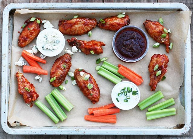 Crispy, oven-baked chicken wings at home? Believe it! Click through for recipe instructions.