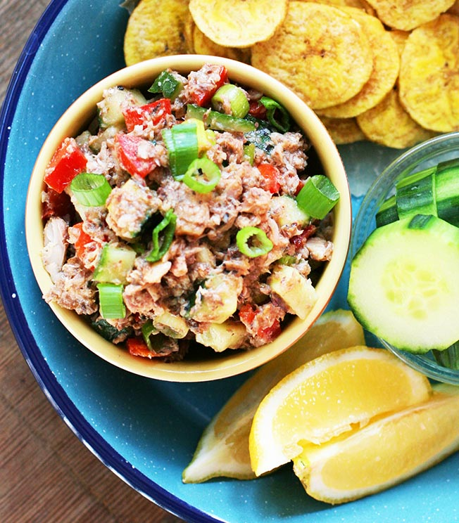 Paleo sardine dip: My favorite way to eat sardines. The bold flavors balance out the sardines, so even the skeptical will like this!
