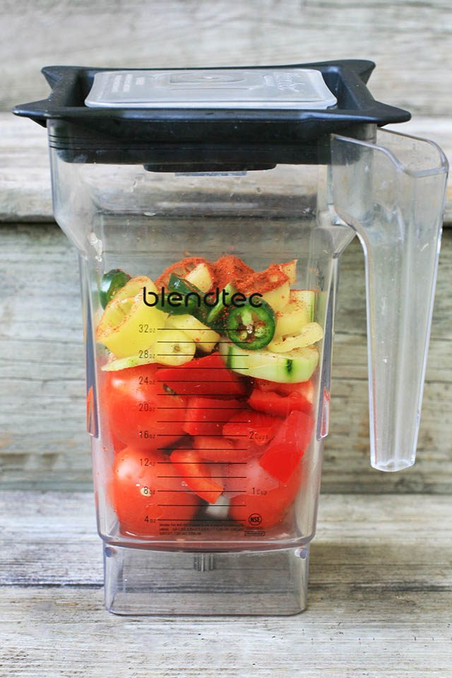 How to make SIMPLE gazpacho at home. Use ingredients from the farmers market!