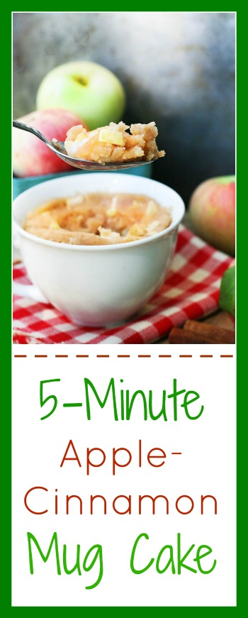 5-minute apple-cinnamon mug cake: It's fast and easy! Click through for recipe.