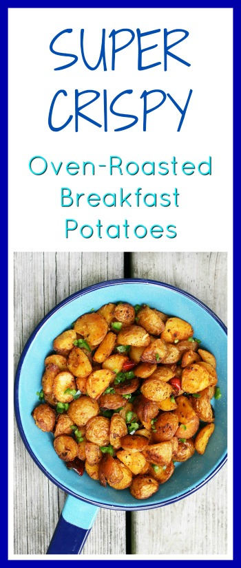 Learn how to make SUPER CRISPY oven-roasted potatoes. Click through for recipe!
