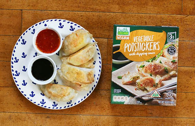 Vegetable potstickers with dipping sauce from ALDI: Read my review!