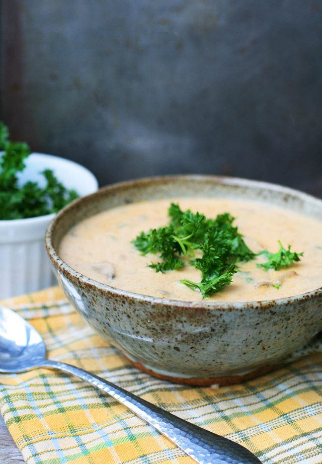 Hungarian mushroom soup: Creamy, delicious mushroom soup with unique flavors added!