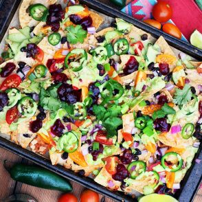 Leftover turkey and cranberry salsa nachos: Perhaps the best use of leftover Thanksgiving foods. So yummy!