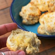 Buttermilk baking powder drop biscuits: The foolproof method of making baking powder biscuits. Extremely cheap, as well!