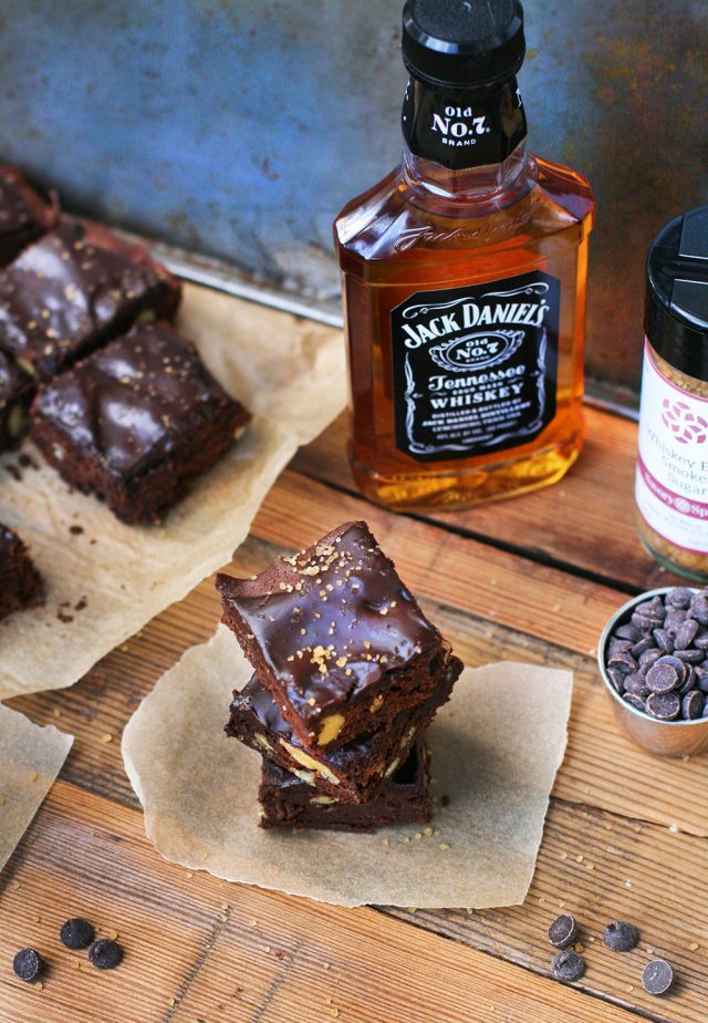 Whiskey brownies with whiskey ganache: Double trouble. The best brownies I've ever eaten!