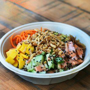 Cheap Quinoa Poke Bowls: Enjoy poke bowls without spending a ton of money! Click through for recipe.
