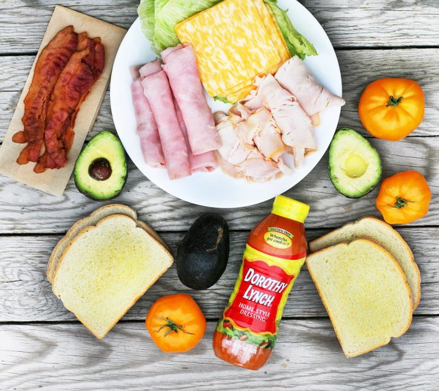 Ingredients for grilled club sandwiches: Learn how to make these delicious, meat-filled sandwiches!
