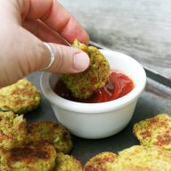 Cheesy keto broccoli-cauliflower tots: Click through for the recipe.