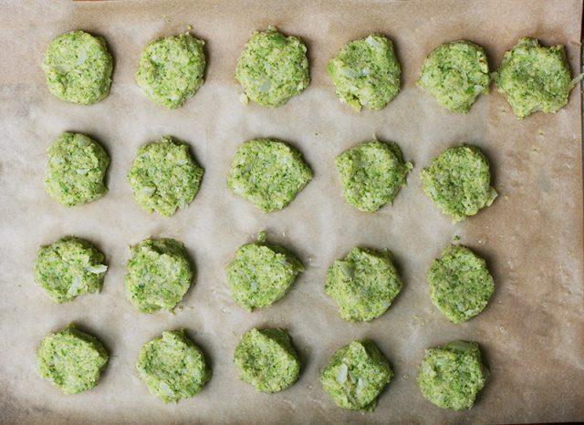 Learn how to make cheesy keto broccoli-cauliflower tots.