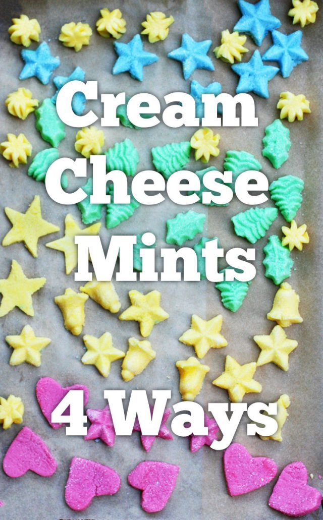 Cream cheese mints, 4 ways. No special equipment needed to make a beautiful batch of homemade cream cheese mints!