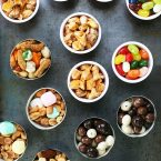 Party snack cups: An inexpensive idea for parties or entertaining. Click through for ideas!