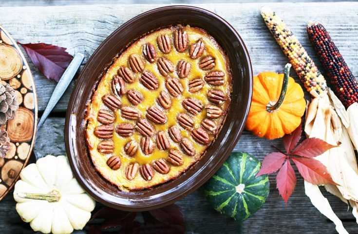 Bourbon-pecan squash: A creative spin on the classic Thanksgiving side dish. Click through for cheap recipe!