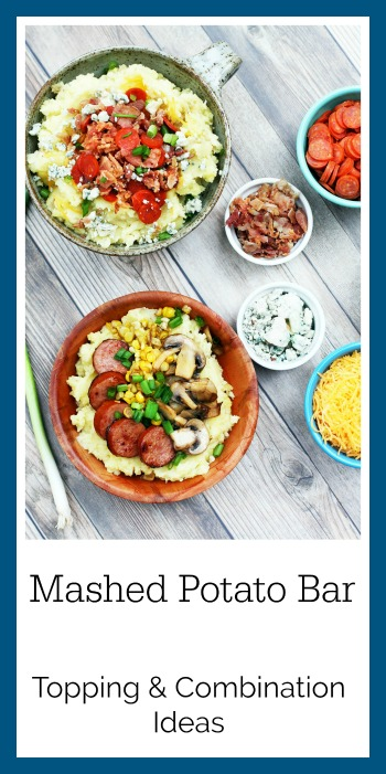 Set up a mashed potato bar, with lots and lots of toppings! Great use for leftover mashed potatoes from Thanksgiving!