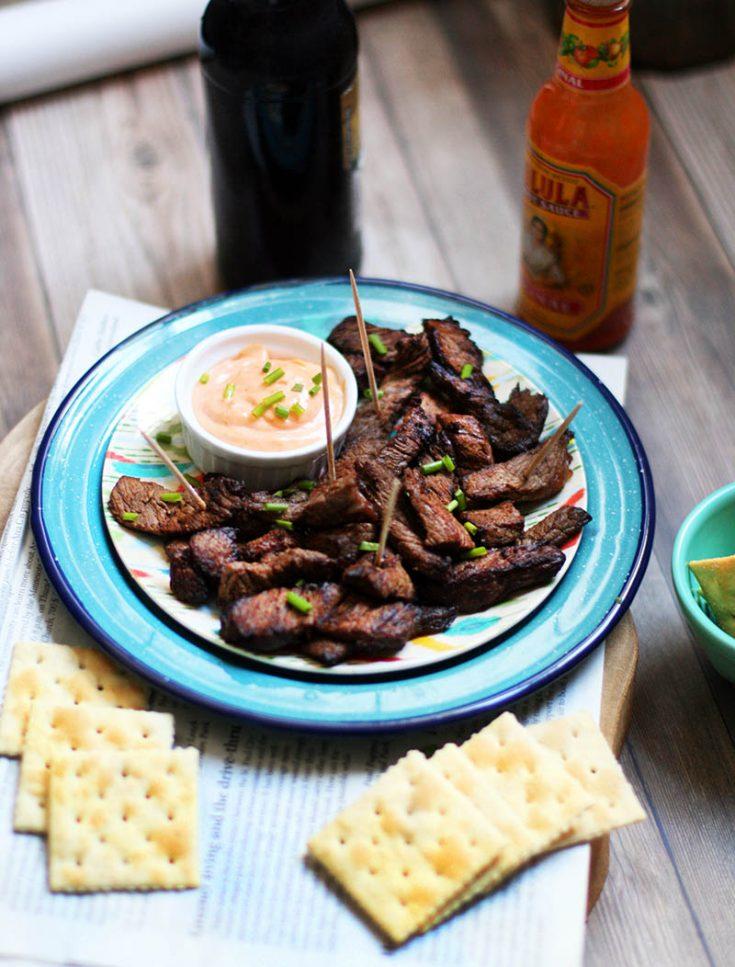 Make chislic at home: Deep fried, seasoned beef. A South Dakota favorite!