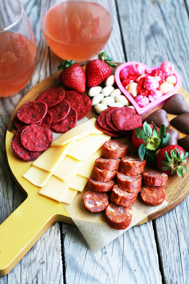 Valentine's Day snack board for two: Learn how to assemble a mini grazing board for your Valentine!