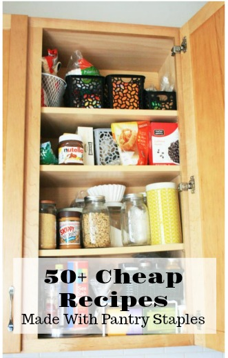 50+ cheap recipes made with pantry staples: Click through for all 50 recipes!