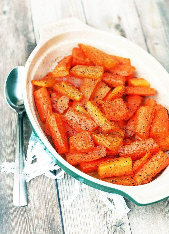 Cheap, simple buttery baked carrots: Costs about $1.00 for the whole recipe!