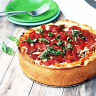 Deep-dish pizza: A simple recipe, made in a springform pan.