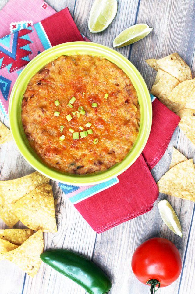 Cheesy pinto bean dip: The cheesiest bean dip you'll ever eat!