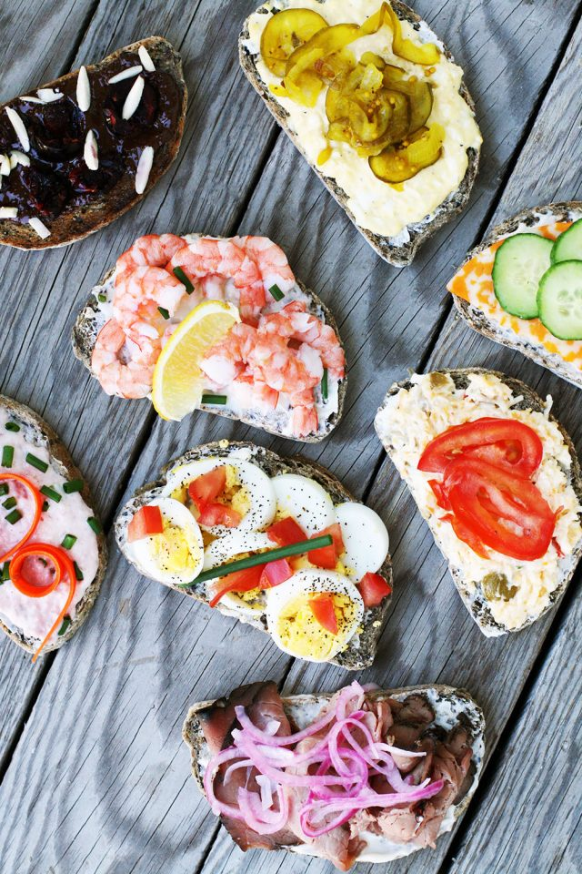 Open-faced sandwiches: The sky is the limit when it comes to topping these Scandinavian-style sandwiches.
