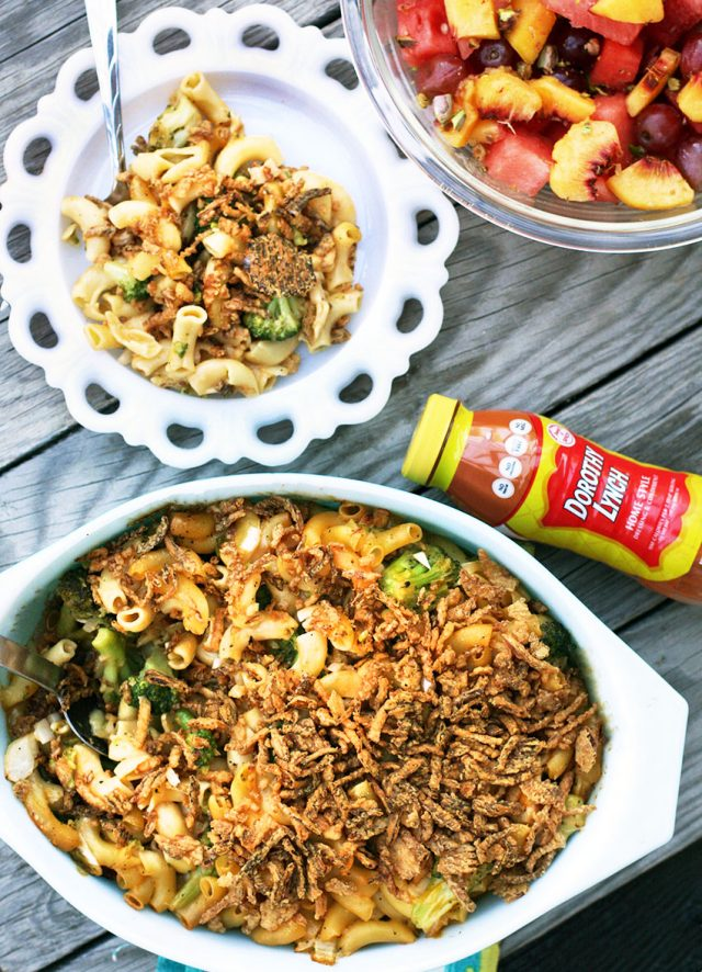 Chicken broccoli hotdish: A classic hotdish recipe that will feed a family and keep the kitchen warm!