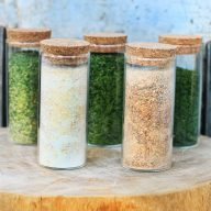 DIY dried herbs, spices, and vegetables. Makes a great homemade gift!