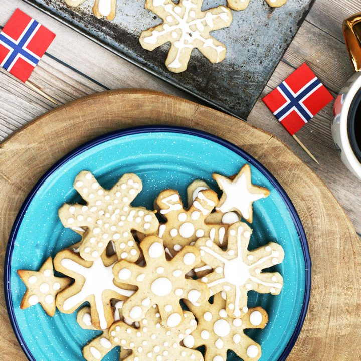 Norwegian pepperkaker cookies: A spiced cookie that's a hit for the holidays.
