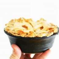 Mini pies: You can make a mini pie in an ovenproof bowl! Click through for recipe.