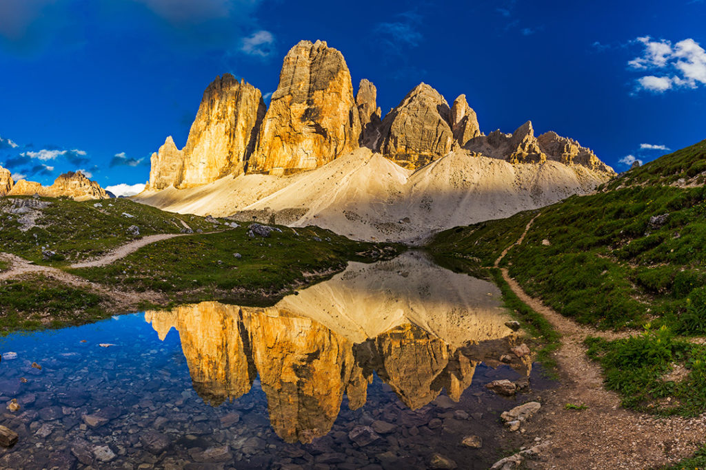 The iconic Tre Cime di Lavaredo