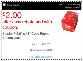 staples copy paper
