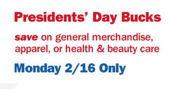 Meijer 2015 President's Day Bucks