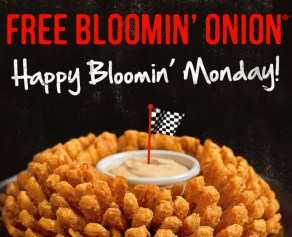 Free Bloomin Onion Monday