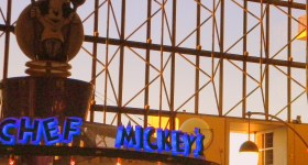 Chef Mickey's, Chef Mickey's food, Chef Mickey's free dining, Disney Princess, Chef Mickey's sign, Comtemporary Resort dining, Contemporary Resort restaurant,