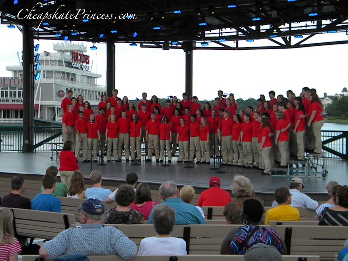 live choirs at Downtown Disney