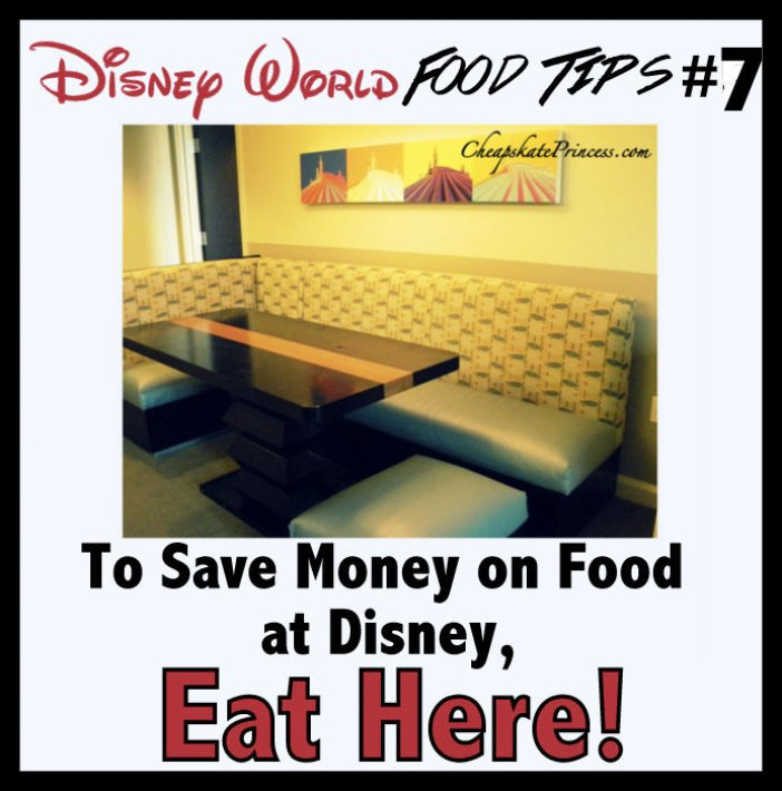 save money on food at Disney World