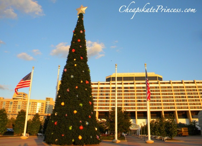 how tall is the Contemporary Resort big Christmas tree, Christmas Tree, Disney Christmas tree