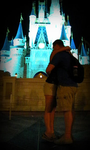 I want to propose at Disney, why propose at Disney, do small kids remember Disney, will kids remember a Disney vacation, hug at Disney, hug, Disney, Cinderella Castle