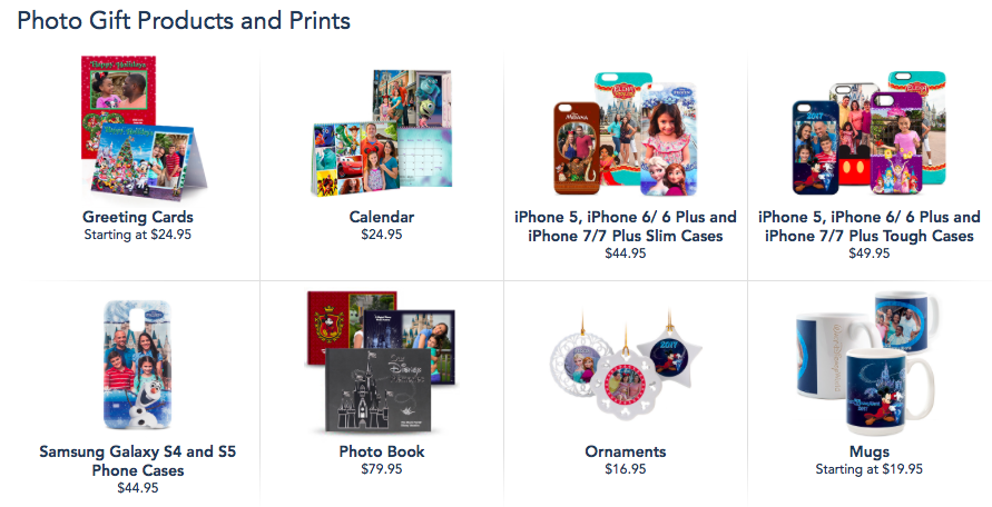 PhotoPass products for purchase
