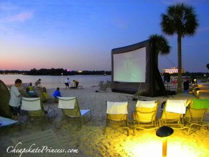 where to seee a movie at a Disney resort