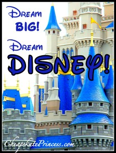 Dream Big, Dream Disney, dreaming of Disney World, I dream about Disney World, saving money for Disney World, Disney, Disney Princess, be a Princess