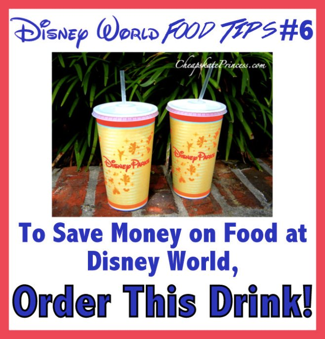 how to save money on drinks at Walt Disney World