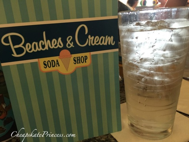 To save money to pay the bill, order water! You may not want a sweet soda pop with this dessert anyway!