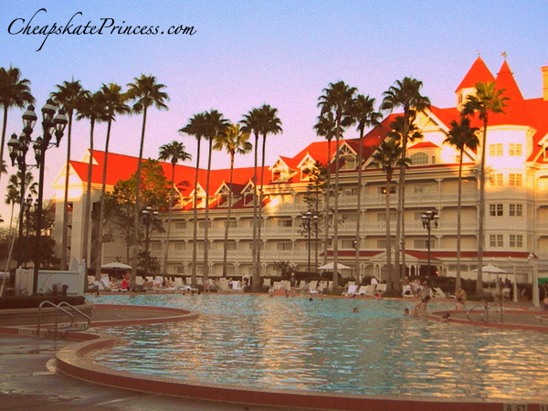 pool hopping at the Grand Floridian Resort pool