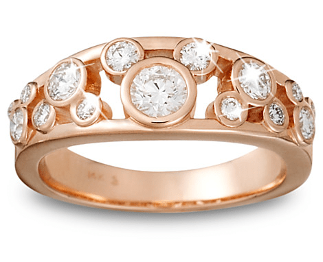 Mickey Mouse Rose Gold diamind ring