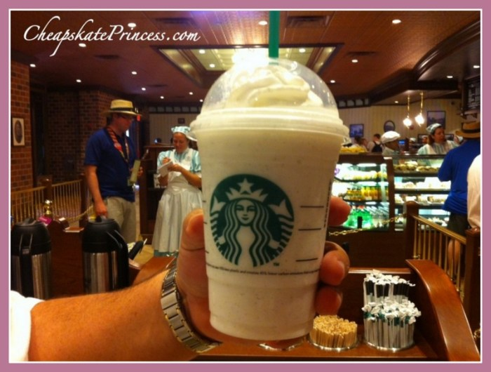Disney World Starbucks prices