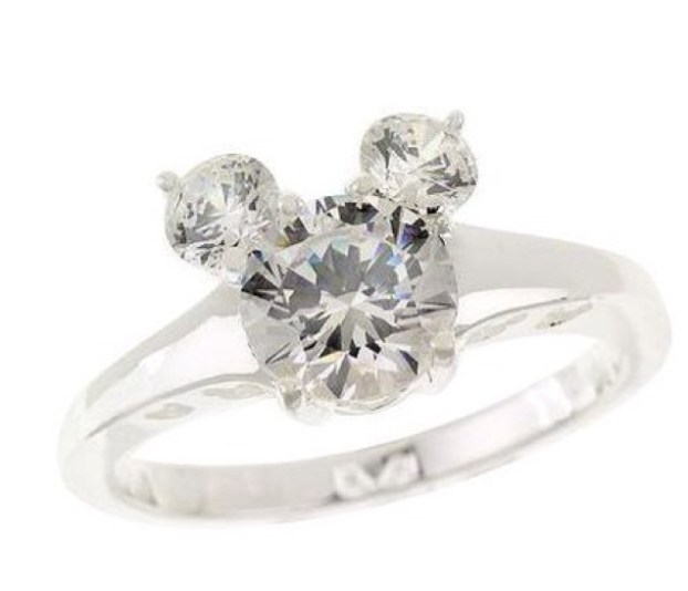 Mickey Mouse engagement ring